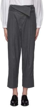 3.1 Phillip Lim Belted foldover waist flannel pants