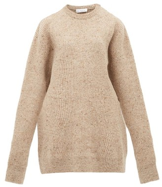 Raey Oversized Marled Wool-blend Sweater - Womens - Brown