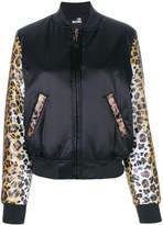 Love Moschino cheetah print bomber jacket