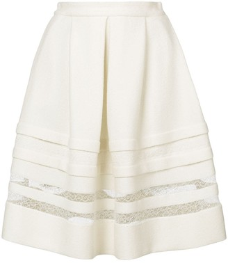 Ermanno Scervino lace detail full skirt