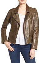 BB Dakota Women's 'Heely' Leather Moto Jacket