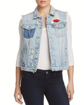 Scotch & Soda Trucker Distressed Denim Vest