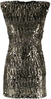 Pinko Sequin Embroidered Mini Dress