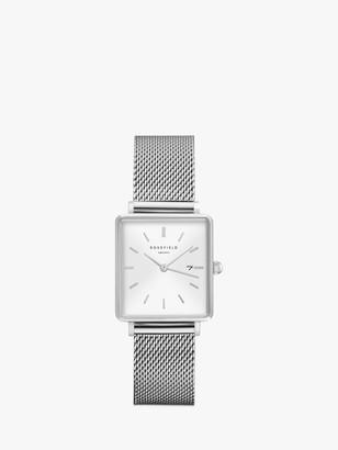 ROSEFIELD Women's The Boxy Date Mesh Bracelet Strap Watch