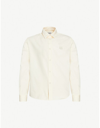 Kenzo Crest graphic-embroidered cotton shirt