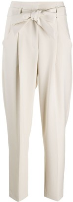 Luisa Cerano High-Rise Tie Waist Trousers