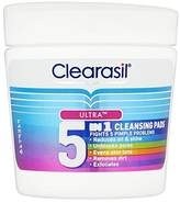 Clearasil 5-in-1 65 Ultra Cleansing Pads, Pack of 4
