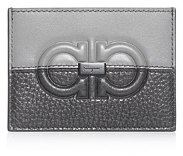 Salvatore Ferragamo Firenze Embossed & Plain Leather Card Case