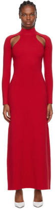 Victor Glemaud Red Cut-Out Dress