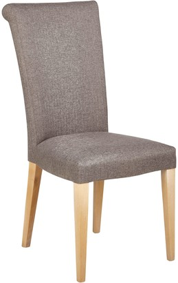 John Lewis & Partners Evelyn High Back Upholstered Dining Chair, Vietto Grey, FSC-Certified (Ash)
