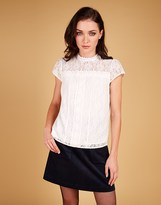 Louche Lace Short Sleeve Top