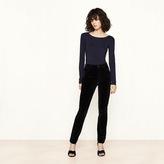 Maje Velvet high-waisted trousers
