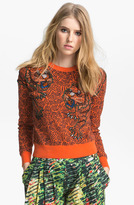Kenzo Bead Embroidered Tiger Sweater