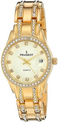 Peugeot Women's 7097G Gold-Tone Crystal Watch