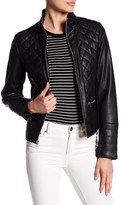 Kenneth Cole New York Stand-Up Collar Quilted Jacket