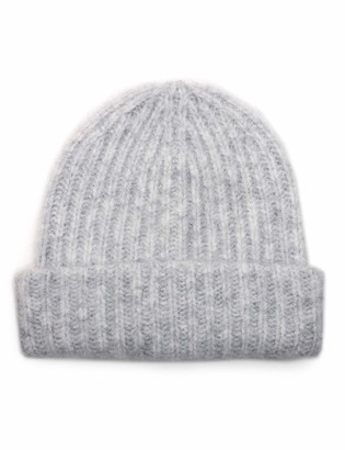 Urban Outfitters UNDER ZERO Women's Warm Grey Knitted Rib Beanie Hat