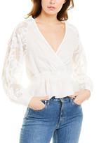 SUBOO Novella Lace Linen Wrap Blouse
