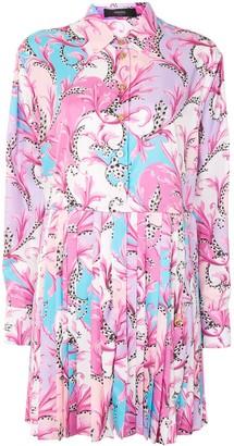 Versace Paisley Pattern Pleated Dress