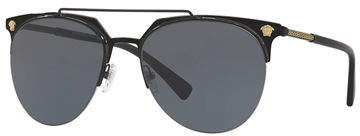 Versace Semi-Rimless Aviator Sunglasses