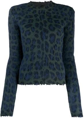 Unravel Project Leopard Print Sweater