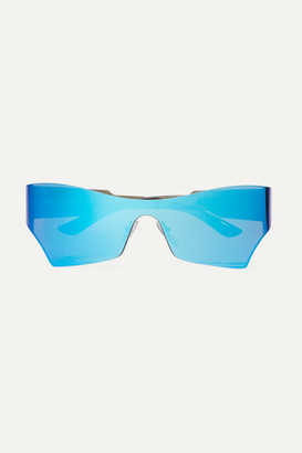 Balenciaga Cat-eye Acetate Mirrored Sunglasses - Blue