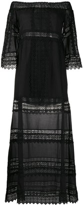 Charo Ruiz Ibiza Gamma crochet-trimmed maxi dress