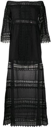Charo Ruiz Ibiza Gamma crochet-trimmed maxi dress
