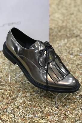 Eureka Mirror Finish Oxford Flat Shoes