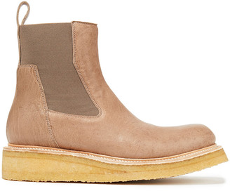 Rick Owens Burnished-leather Ankle Boots