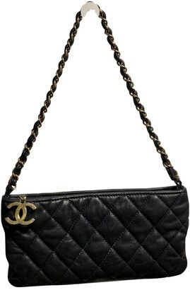 Chanel Black Leather Clutch bags