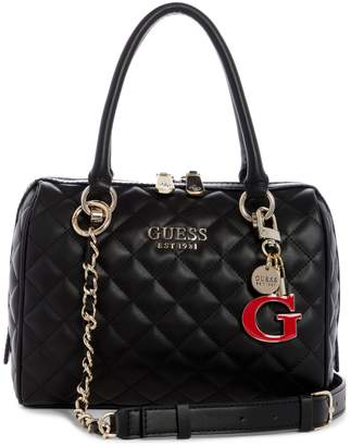 GUESS Melise Quilted Box Satchel