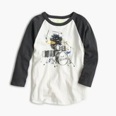 J.Crew Boys' three-quarter sleeve Max the Monster drumming T-shirt