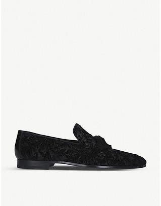 Magnanni Brocade velvet slippers