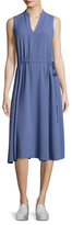 Anne Klein Drawstring CDC Midi Dress