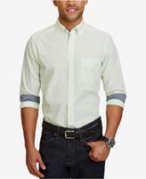 Nautica Men's Big & Tall Classic-Fit Gingham Long-Sleeve Shirt
