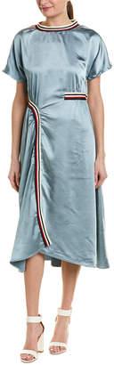 Stellah Striped Midi Dress
