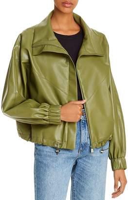ÁERON Portia Faux Leather Bomber Jacket
