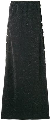 Faith Connexion Logo Stripe Maxi Skirt