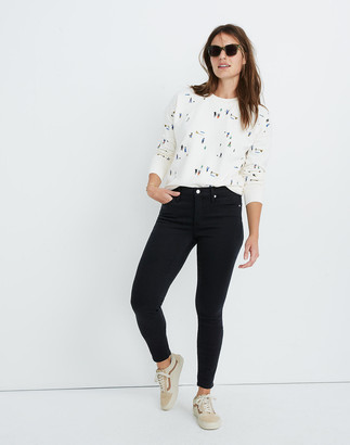 "Madewell Petite 9"" Mid-Rise Skinny Jeans in Lunar Wash: TENCEL Denim Edition"