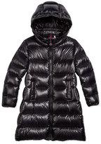 Moncler Suyen Hooded Down Coat, Black, Size 4-6
