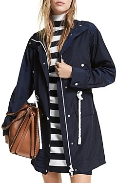 MICHAEL Michael Kors Rope Trim Hooded Anorak