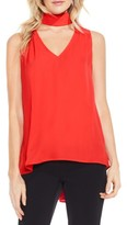 Vince Camuto Women's Mock Choker V-Neck Blouse