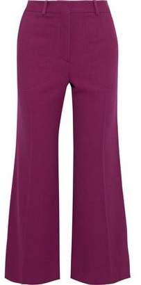 Victoria Beckham Cropped Crepe Flared Pants