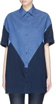 Neil Barrett Colourblock denim shirt