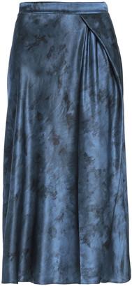 Vince Wrap-effect Silk-satin Midi Skirt