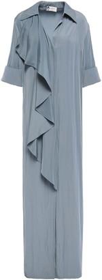Lanvin Draped Crepe Maxi Dress