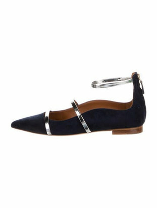 Malone Souliers Suede Gladiator Sandals Blue