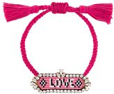 Shourouk 'Love' beaded bracelet