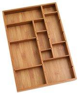 Lipper 8397 Bamboo Adjustable Drawer Organizer