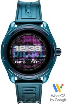 Diesel Men's Fadelite Blue Transparent Polyurethane Strap Touchscreen Smart Watch 44mm